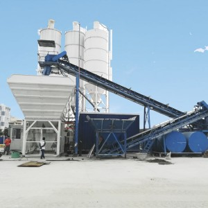 60 m³ Mobile concrete mixing plant MBP15