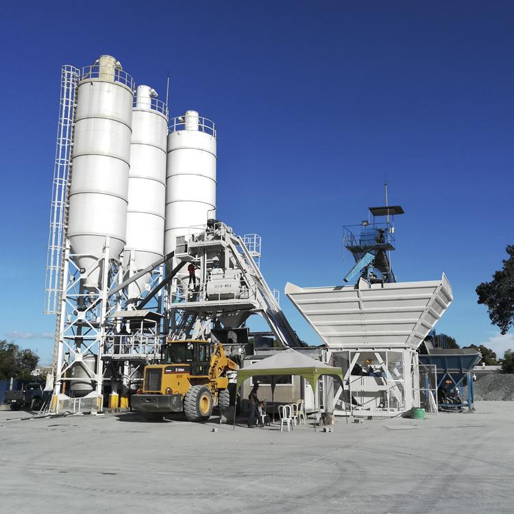 80 m³/h Mobile concrete batching plant MBP20 Featured Image