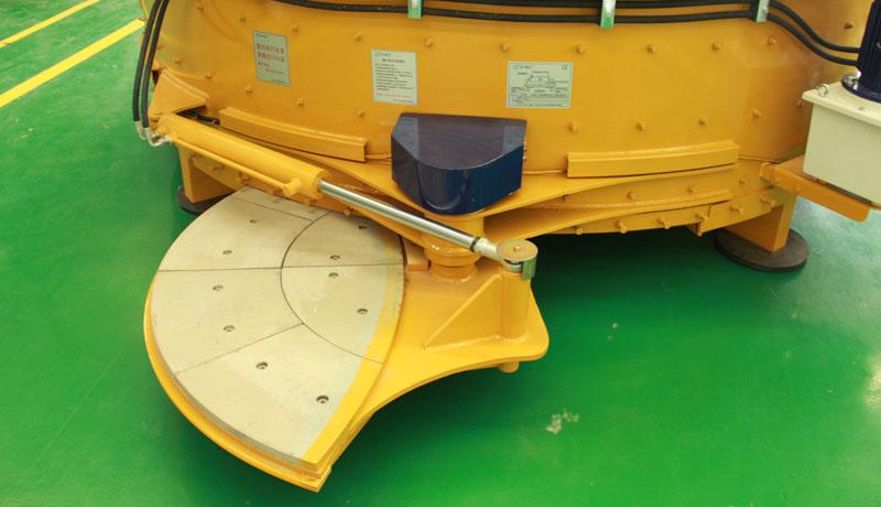 CMP1500 Planetary concrete mixers discharging