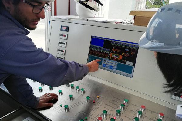 HZN35 ready concrete batching plant control