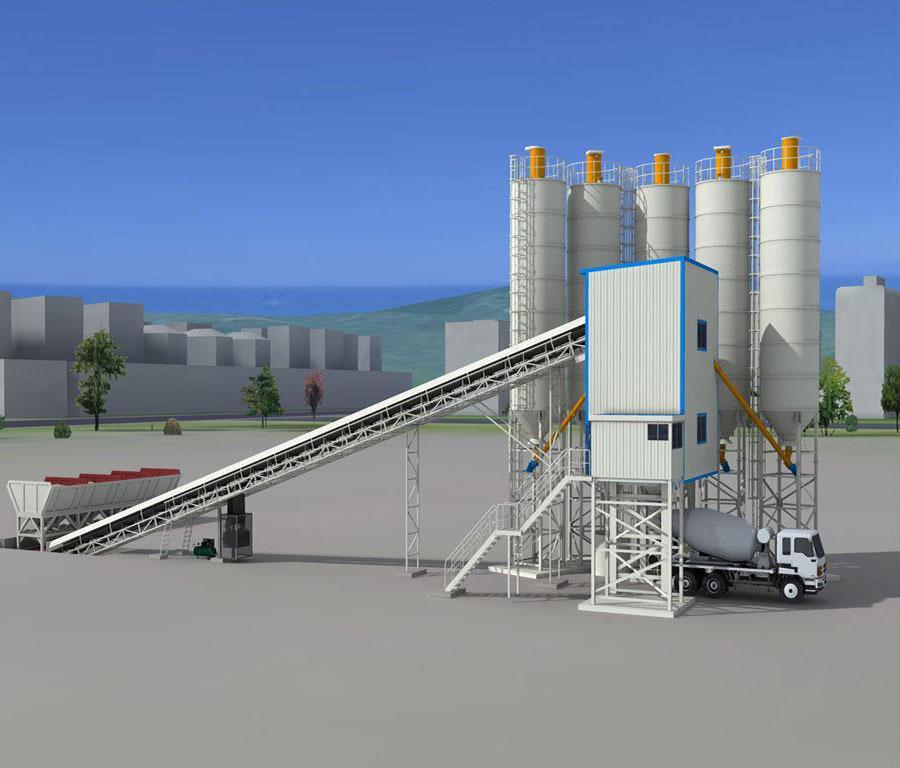 HZN120-120m3/h-ready-mix-concrete-batching