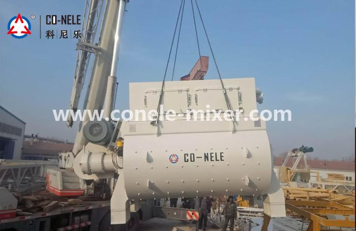 Js2000 double shaft forced concrete mixer production capacity