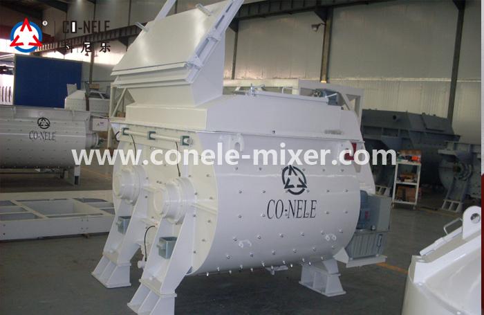 CO-NELE twin-shaft forced concrete mixer model